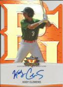 2014 Leaf Valiant Draft Perfect Game Orange Autograph #PGVKC1 Kody Clemens 7/25