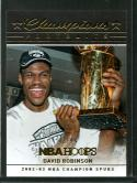 2016-17 Hoops Champions Trophy Portraits #4 David Robinson NM-MT 42/99 Spurs