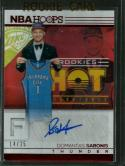 2016-17 Hoops Hot Signatures Rookies Red Hot #10 Domantas Sabonis NM-MT Auto 14/25 Thunder