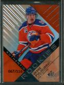 2016-17 Game Used Hockey Authentic Rookies Orange Rainbow Draft Year #139 Jesse Puljujarvi NM-MT 67/116 Oilers