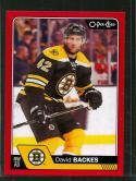 2016-17 Upper Deck O-Pee-Chee Update Red Border #662 David Backes NM-MT Bruins