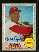 2017 Topps Heritage Real One Autographs #ROA-OC Orlando Cepeda NM-MT Auto Cardinals