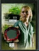 2016 Walking Dead Season 5 Relic Cards #NNO4 Beth Greene Shirt NM-MT MEM /