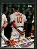 2017 Opening Day National Anthem #NA-25 Adam Jones 1:210 packs NM-MT Orioles