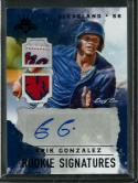 2017 Diamond Kings DK Rookie Signatures Masterpiece #34 Erik Gonzalez NM-MT Auto 1/1 Indians