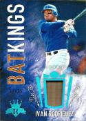 2017 Diamond Kings Bat Kings Holo Blue #21 Ivan Rodriguez NM-MT 12/25 Rangers