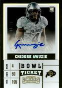 2017 Contenders Draft Picks College Ticket Autographs Bowl Tickets #277 Chidobe Awuzie NM-MT Auto 16/99