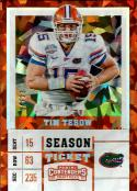 2017 Contenders Draft Picks Cracked Ice Ticket #93 Tim Tebow NM-MT 4/23