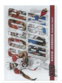 2017 Score Color Rush #4 David Johnson NM-MT Cardinals