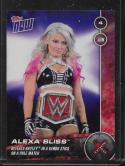 2017 Now WWE #102 Alexa Bliss Defeats Bayley in a Kendo Stick on the Pole Match NM-MT /268