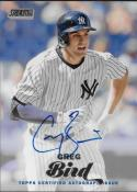 2017 Topps Stadium Club Autographs #SCA-GB Greg Bird NM-MT Auto Yankees