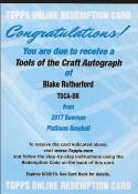 2017 Bowman Platinum Tools of the Craft Autograph #TOCA-BR Blake Rutherford NM-MT RC Rookie Auto