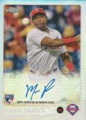 2015 Topps Chrome Autographed Rookies Refractor #AR-MFO Maikel Franco NM-MT Auto 12/499 Phillies