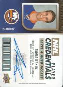 2017-18 Upper Deck MVP NHL Player Credentials Level 4 Access Autographs #NHL-AL Anders Lee NM-MT Auto