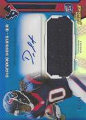 2013 Topps Finest Jumbo Relic Blue Refractor Autograph #AJR-DH DeAndre Hopkins NM-MT RC MEM Auto 2/99 Texans