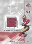 2001 SP Game Used Edition Authentic Fabric #JR Jerry Rice NM-MT MEM