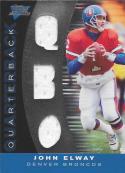 2007 Topps Performance Skill Sets Quarterbacks Triple Relics Silver #SSQJE John Elway NM-MT MEM 20/25 Broncos