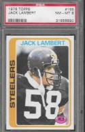 1978 Topps #165 Jack Lambert PSA 8 NM-MT Steelers
