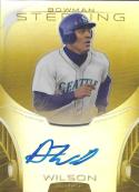 2013 Bowman Sterling Prospect Autographs Gold Refractor #BASP-AW Austin Wilson NM-MT RC Auto 11/50 Mariners