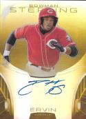 2013 Bowman Sterling Prospect Autographs Gold Refractor #BASP-PE Phil Ervin NM-MT RC Auto 35/50 Reds