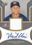 2009 Upper Deck Signature USA Star Prospects Jersey Autographs #MC Michael Choice NM-MT 33/399