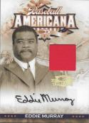 2008 Donruss Threads Baseball Americana Signatures Materials #4 Eddie Murray  MEM Auto 20/25 Orioles
