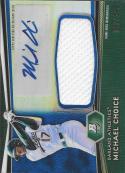 2012 Bowman Platinum Jumbo Relic Autograph Blue Refractors #MC Michael Choice NM-MT MEM Auto 92/199 Athletics