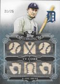 2010 Topps Sterling Sterling Stats Relics Six #SSR73 Ty Cobb NM-MT MEM 21/25