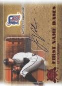 2005 Fleer National Pastime First Name Bases Autograph Red #JV Justin Verlander NM-MT Auto 57/99