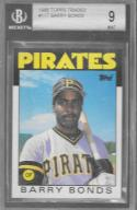 1986 Topps Traded #11T Barry Bonds Beckett 9 RC Pirates