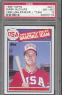 1985 Topps #401 Mark McGwire OLY PSA 8 NM-MT RC