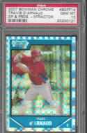 2007 Bowman Draft Chrome Draft Picks X-Fractors #BDPP14 Travis d'Arnaud PSA 10 GEM MINT 9/299 Phillies