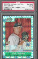 2006 Bowman Chrome Draft Picks and Prospects X-Fractors #22 Jon Lester PSA 9 MINT 231/299 Red Sox