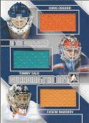 2013-14 In The Game Game Used Guarding the Net Triple Jerseys Silver #GTN05 Chris Osgood/Tommy Salo/Evgeni Nabokov/ NM-M