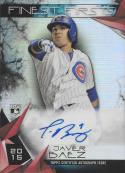 2015 Topps Finest Firsts Autographs #FFA-JB Javier Baez NM-MT Auto Cubs
