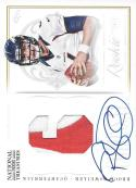 2012 Playoff National Treasures Rookie Colossal Prime Jersey Number Signatures #1 Brock Osweiler NM-MT RC MEM Auto 21/25