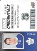 2017-18 Upper Deck MVP NHL Player Credentials Level 1 VIP Access #NHL-AM Auston Matthews NM-MT Maple Leafs