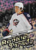 2016-17 Parkhurst Rookie Parade #RP4 Sonny Milano NM-MT 508/999 Blue Jackets