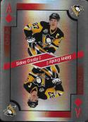 2017-18 O-Pee-Chee Playing Cards Foil #A-DIAMONDS Sidney Crosby NM-MT SP Penguins