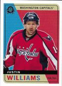 2017-18 O-Pee-Chee Retro Blank Back #93 Justin Williams NM-MT Capitals