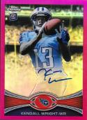 2012 Topps Chrome Rookie Autographs BCA Refractors #212 Kendall Wright NM-MT Auto 43/75