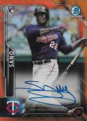 2016 Bowman Chrome Chrome Rookie Autographs Refractors Orange #BCAR-MS Miguel Sano NM-MT Auto 9/25 Twins