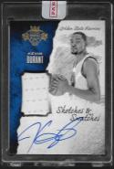 2016-17 Panini Court Kings Sketches and Swatches #31 Kevin Durant NM-MT MEM Auto 41/60
