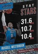 2017-18 Panini Prestige Stat Stars Rain #6 Russell Westbrook NM-MT Thunder