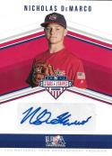 2018 Panini Stars and Stripes 14U National Team Signatures #24 Nicholas DeMarco NM-MT Auto 156/193
