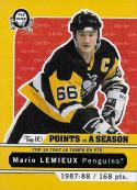2017-18 O-Pee-Chee Retro Top 10 Point Seasons #T-8 Mario Lemieux 1987-88 NM-MT Penguins