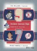 2003 SP Authentic Splendid Swatches Pairs #TW-TW Ted Williams/Mickey Mantle NM-MT MEM 92/406