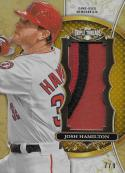 2013 Topps Triple Threads Gold Unity Jumbo Relics #TTUJR-JH1 Josh Hamilton NM-MT MEM 7/9 Angels