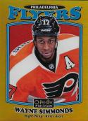 2016-17 O-Pee-Chee Platinum Retro Rainbow Gold #R-9 Wayne Simmonds NM-MT 85/149 Flyers