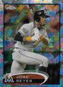 2012 Topps Chrome Atomic Refractors #75 Jose Reyes NM-MT 6/10 Marlins